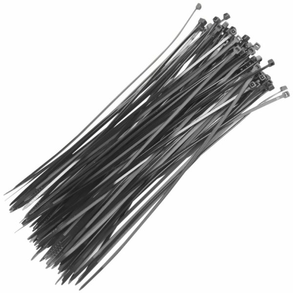 abracadeira lacre nylon 200 x 2.5mm preta com 100 pc fertak