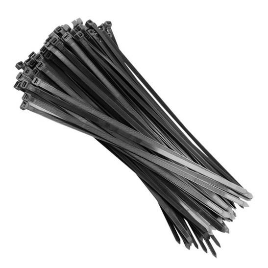 abracadeira lacre nylon 200 x 7.6mm preta com 50 pc fertak