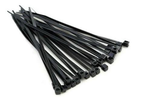 abracadeira lacre nylon 300 x 4.8mm preta com 50 pc fertak