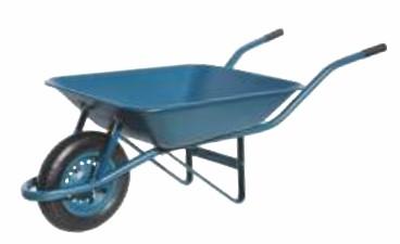 carrinho de mao paraboni pneu camara aro de metal azul