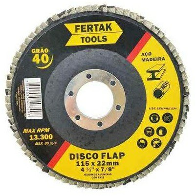 disco de desbaste fertak flap disc maxi n 40 115 x 22mm 4.5