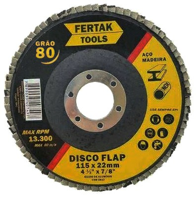 disco de desbaste fertak flap disc maxi n 80 115 x 22mm 4.5