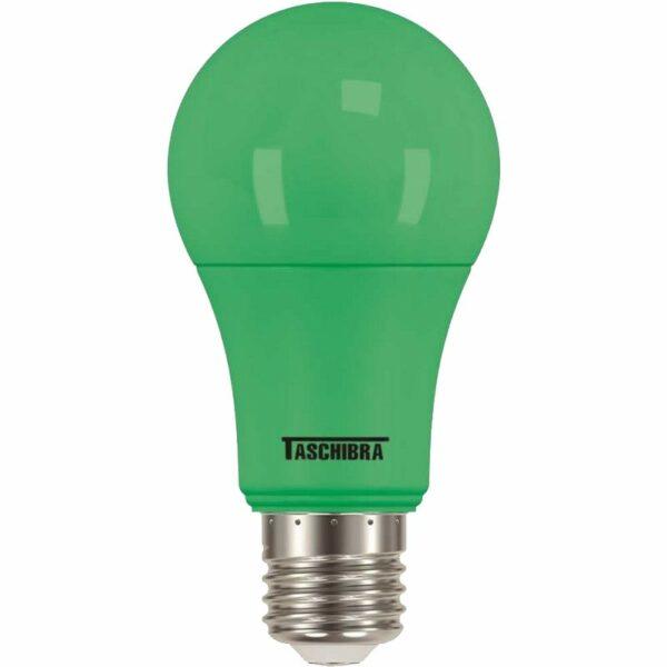 l�mpada a60 led taschibra tkl 5w bivolt colors verde