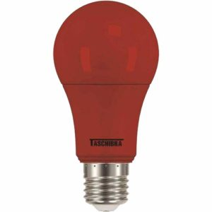 l�mpada a60 led taschibra tkl 5w bivolt colors vermelha