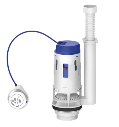 mecanismo para caixa acoplada saida dual flush censi