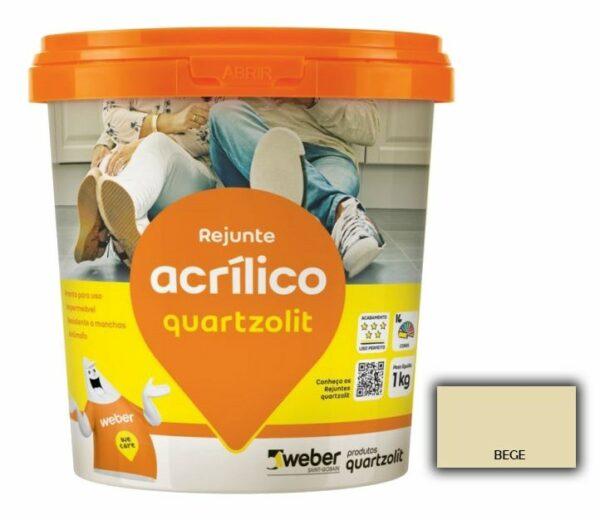rejunte quartzolit acrilico 1kg bege