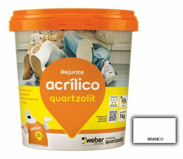 rejunte quartzolit acrilico 1kg branco 52