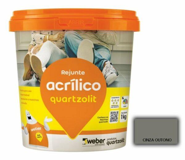 rejunte quartzolit acrilico 1kg cinza outono