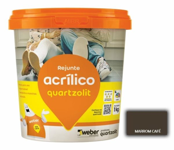 rejunte quartzolit acrilico 1kg marrom cafe