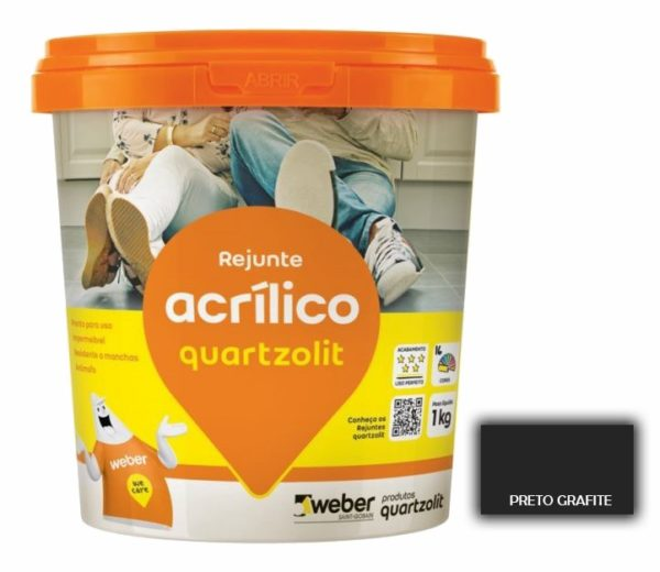 rejunte quartzolit acrilico 1kg preto grafite