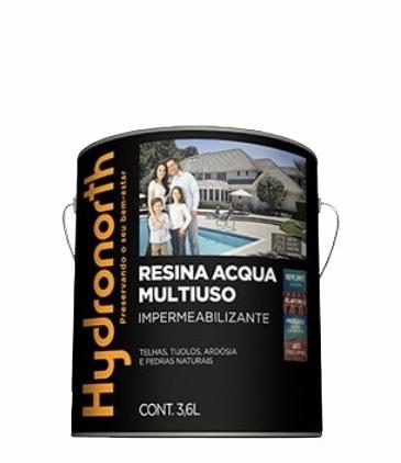 resina acrilica base agua 3.6l incolor alto brilho hydronorth