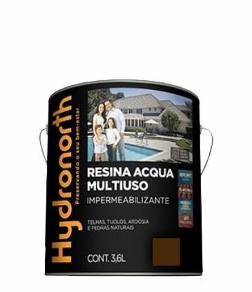 resina acrilica base agua 3.6l vermelho oxido hydronorth