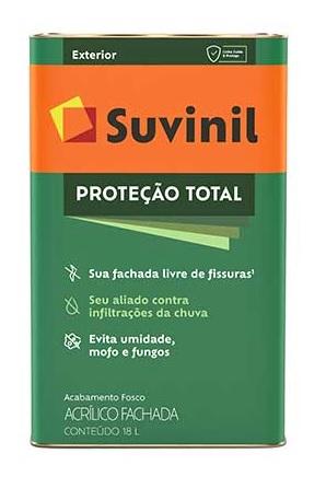 suvinil acr�lico premium prote��o total fosco 18l branco