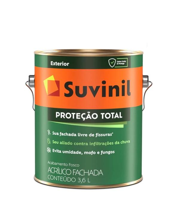 suvinil acr�lico premium prote��o total fosco 3.6l branco