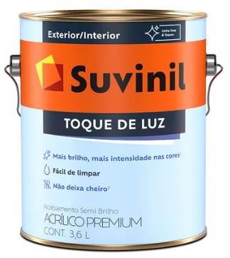suvinil acr�lico premium semi brilho toque de luz 3.6lt branco