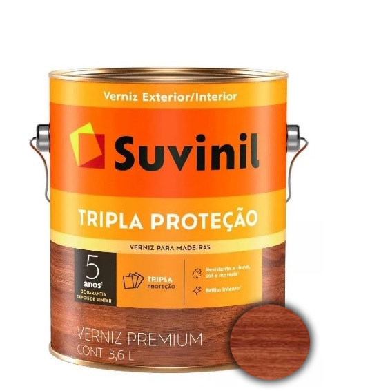 suvinil verniz triplo filtro solar brilhante 3.6lt nogueira