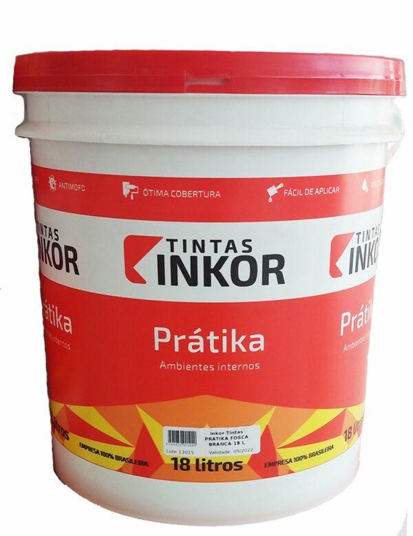 tinta acrilica fosca economica pratika 18l balde branco inkor