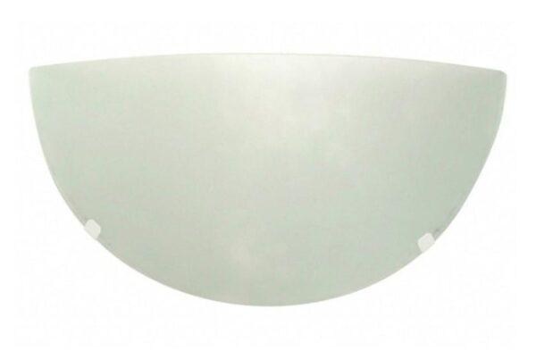 arandela redondo vidro liso fosco jurere 30cm branca taschibra