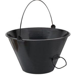 balde de ferro para obra paraboni preto 10l 100157