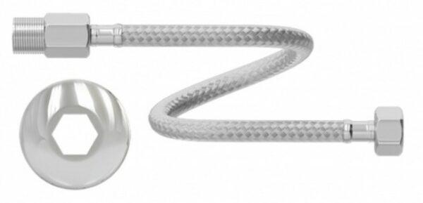 ligacao flexivel censi para agua 60cm m f vazao normal inox 7546 1