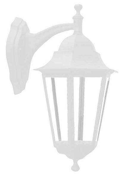 luminaria taschibra arandela colonial aluminio tlf 27 branco