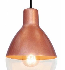 luminaria taschibra pendente baloon 1xe27 cobre