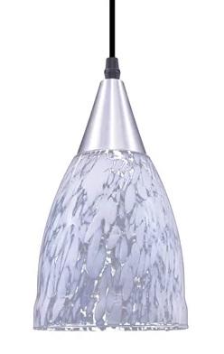 luminaria taschibra pendente vecenza liso 1xe27 prata transp. leitoso