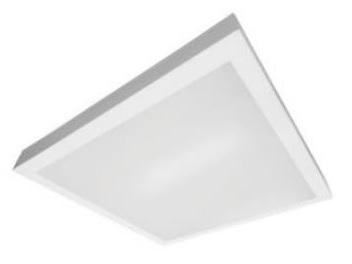 plafon painel led lux taschibra 40x40 sobrepor 32w 2240lm 6500k
