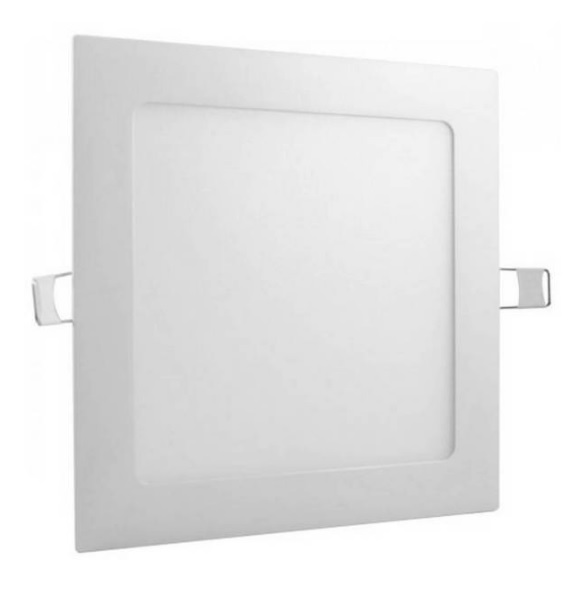plafon painel led taschibra embutir quadrado lux 3w 6500k