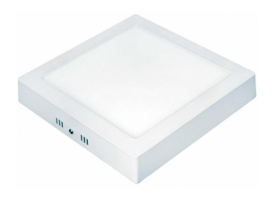 plafon painel led taschibra sobrepor quadrado lux 12w 6500k