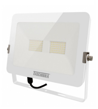 refletor taschibra int. ext. super led 6500k 50w trled50 slim br biv.