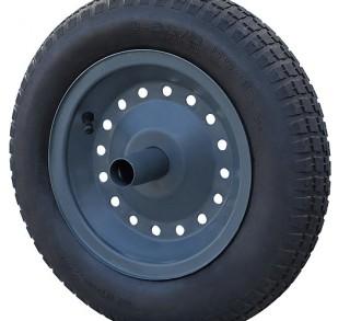 roda para carrinho de mao com camara e pneu aro de metal paraboni 28037