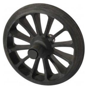 roda para carrinho de mao pneu macico plastico paraboni 28041