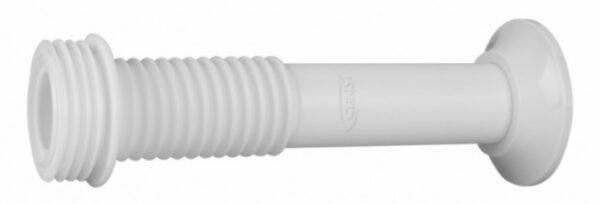 tubo de ligacao ajustavel para vaso com spud 240mm branco censi 7290
