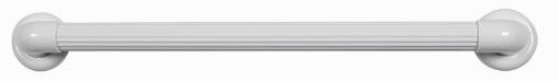 barra de apoio reto 60cm pvc com canopla astra