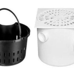 caixa sinfonada quadrada c. grelha c. cesto 250x50x75mm branca 2311 herc