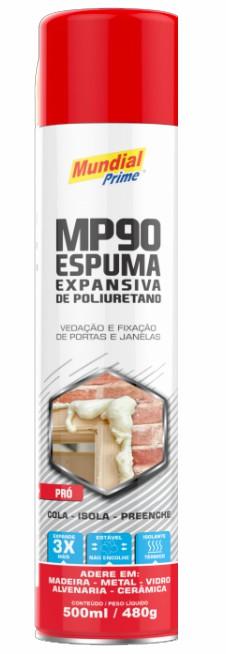 espuma poliuretano 500ml 480g mundial prime