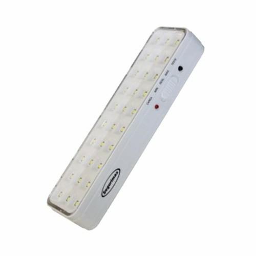 luz de emergencia 30 leds branca 1w bovolt