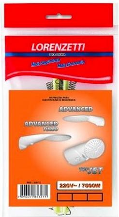 resistencia lorenzetti advanced multi top multi 7500w 220v 3055o
