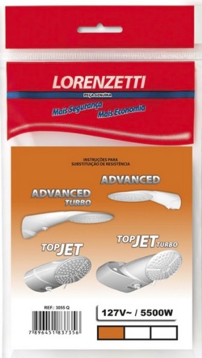 resistencia lorenzetti advanced topjet turbo 5500w 127v 3055q