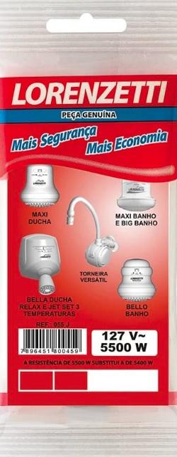 resistencia lorenzetti maxi ducha j3 t43 bello banho 5500w 127v 055j