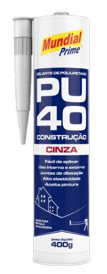 selante elastomerico pu 40 cinza 400ml mundial prime