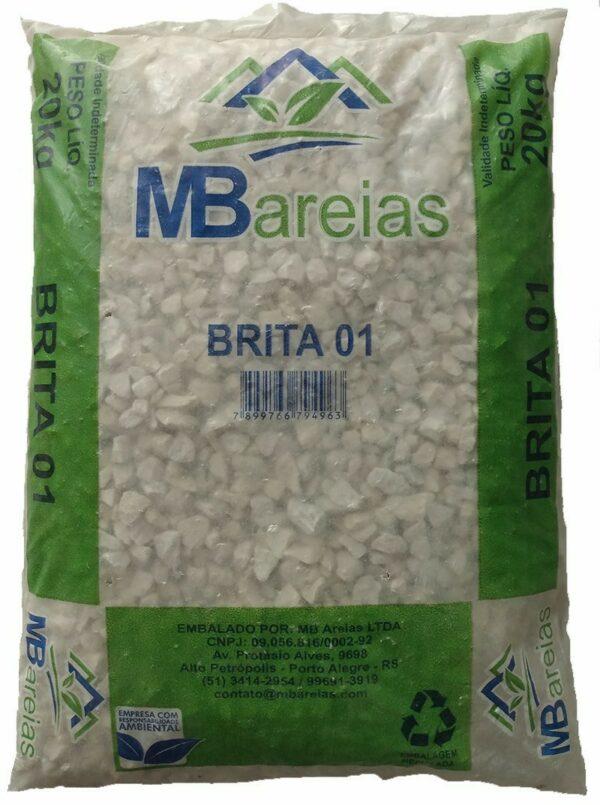 brita branca para jardinagem saco 20kg mb