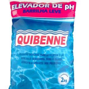 elevador de ph barrilha leve p. piscina saco 2kg quibenne