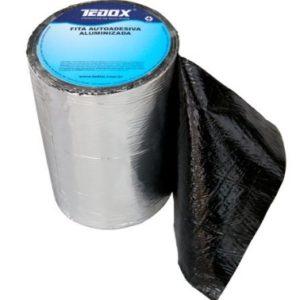 fita asfaltica adesiva c. aluminio 20cm metro linear tedox