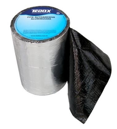 fita asfaltica adesiva c. aluminio 20cm metro linear