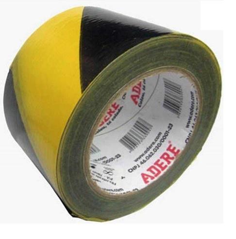 fita demarcacao adere preto amarelo sem adesivo