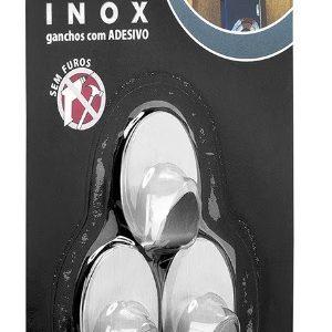 gancho primafer fixa facil adesivo inox 0.7kg com 3 pcs. pr2591