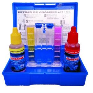 kit teste ph cloro p. piscina quibenne
