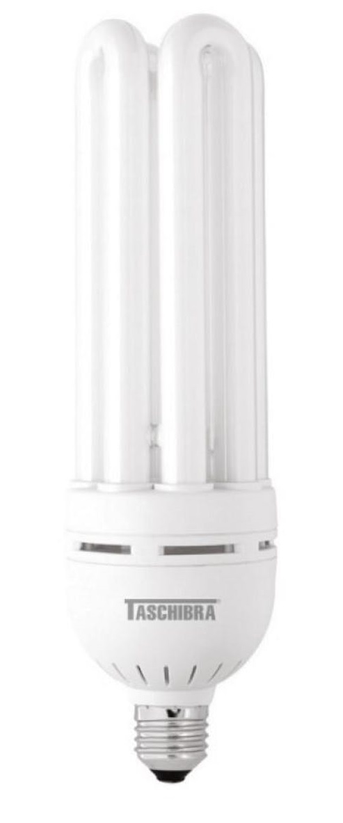 lampada compacta taschibra 40w 127v compl. com reator branca